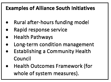 Examples of Alliance South Initiatives